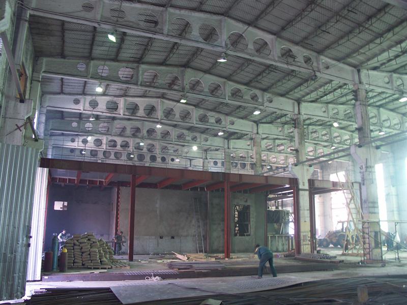 Реконструкция производственного здания, на территории Московского завода «Компрессор»