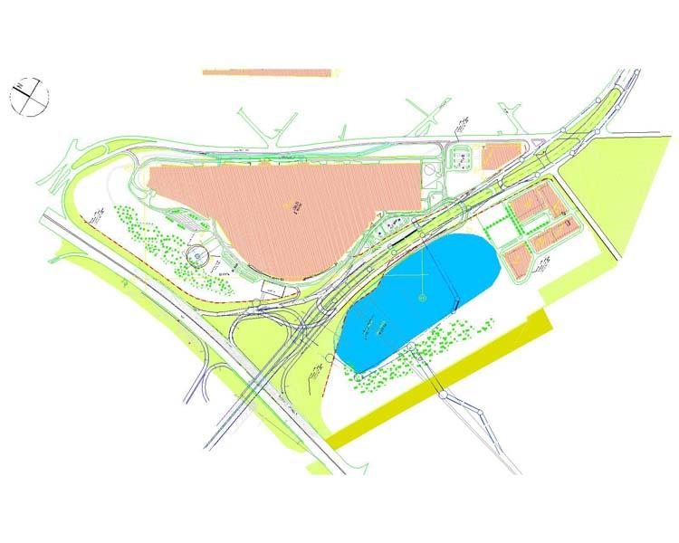 Многофункциональный торовый комплекс «Ашан» на пересечении МКАД, Новоухтомского шоссе и Б. Косинской улицы