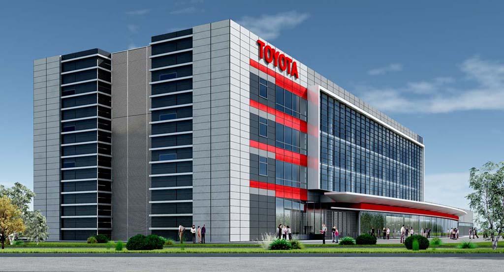 Многофункциональный офисно-производственный комплекс «Toyota-Motor» на пересечении МКАД и Алтуфьевского шоссе